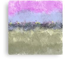 Abstract Pastel Flower Garden Canvas Print
