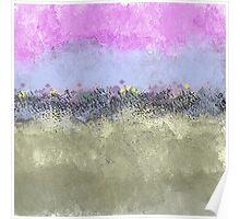 Abstract Pastel Flower Garden Poster