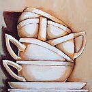 Tea Cups by lynzart