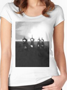Creepy Teletubbies Women's Fitted Scoop T-Shirt