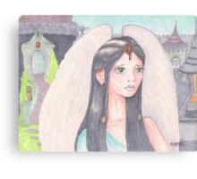 Angel in Unicorn Castle Canvas Print