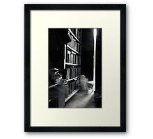 who read them anymore? Framed Print