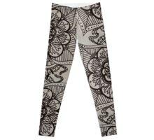 Freehand Mandala design Leggings