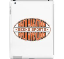Math Marathon geeks sports iPad Case/Skin