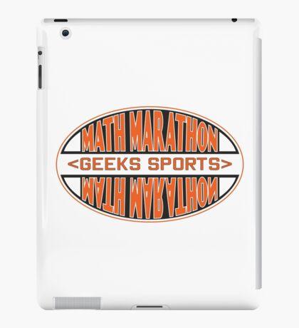 Math Marathon geeks sports iPad Case/Skin