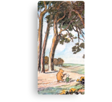 The Pooh Vintage Canvas Print