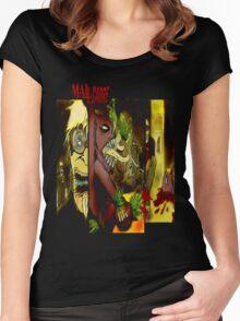 T SHIRT DESIGN: MALLCARBRE COMIC Women's Fitted Scoop T-Shirt