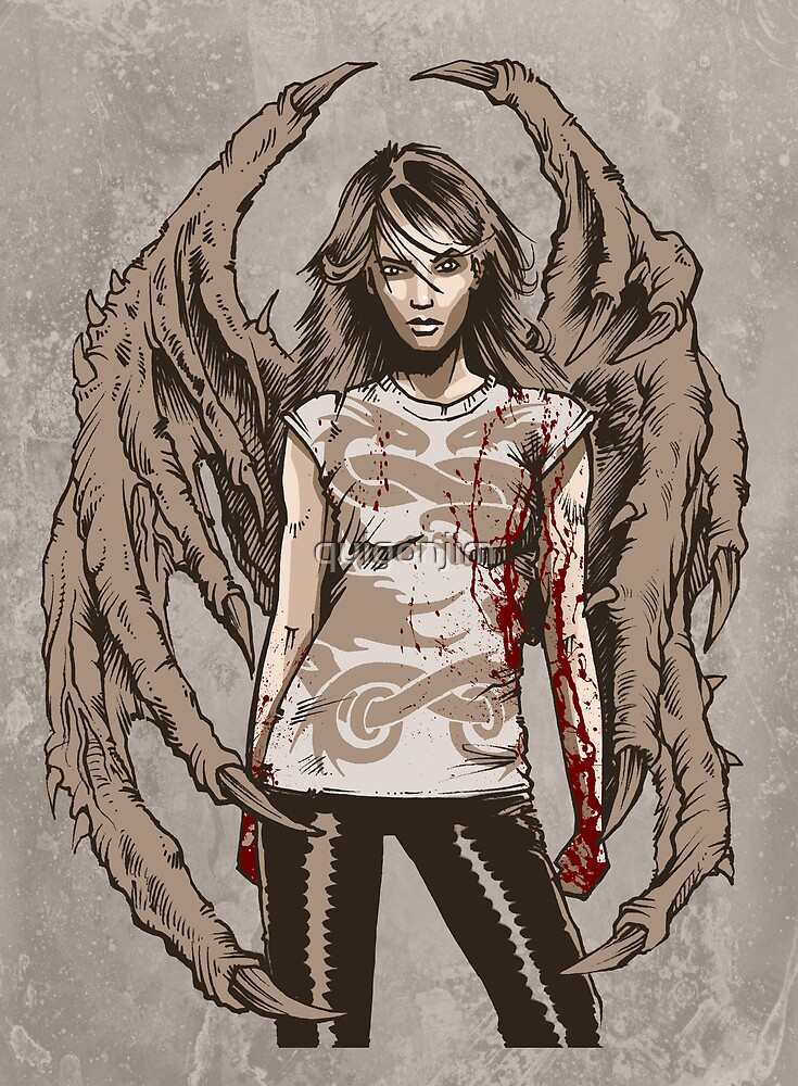 She Demon No.1 - Demons On Our Side. Original Artwork. by quigonjim
