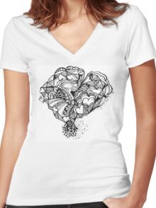 Hearty Weather Women's Fitted V-Neck T-Shirt