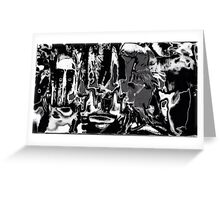 Grey by day, white my knight Greeting Card