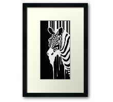 Zebra Melting Framed Print