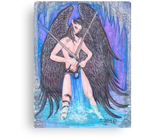 Atarn Sword Weilding Angel Canvas Print