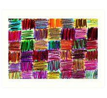 crayon quilt Art Print