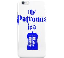 my patronus is a tardis  iPhone Case/Skin