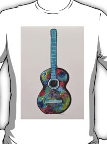 Colorful Abstract Guitar painting Modern wall decor T-Shirt