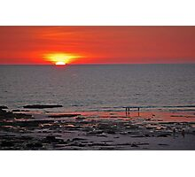 Sunset over the Indian Ocean, Cable Beach.  Broome, Western Australia Photographic Print