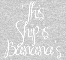This SHIP is banana's - WHITE Kids Tee