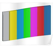 3-dimensional color bars vector image technology Poster