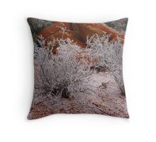 Red White and Fog Throw Pillow