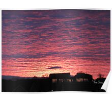 Sunset over South Queensferry Poster