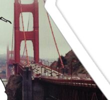 San Francisco Golden Gate Bridge, California hipster Sticker