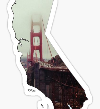 San Francisco Golden Gate Bridge, California hipster Sticker