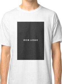 New York Minimalist Black and White - Trendy/Hipster Typography Classic T-Shirt