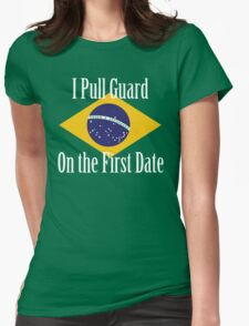 First Date BJJ (White) Womens Fitted T-Shirt