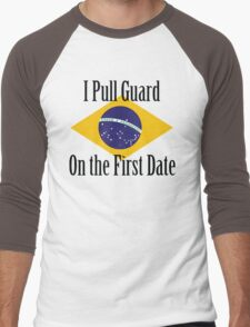 First Date BJJ (Black) Men's Baseball ¾ T-Shirt