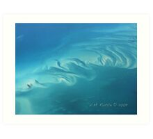 Dreaming in Turquoise - Caribbean Aerial Art Print