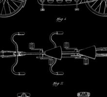 Tandem Bicycle Patent - Black Sticker