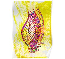 Multi Color Leaf Poster