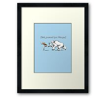 William Shakespeare's Star Wars: Exit, pursued by Wampa Framed Print