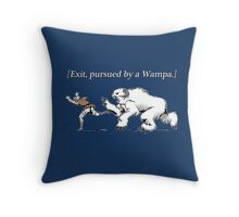 William Shakespeare's Star Wars: Exit, pursued by Wampa Throw Pillow