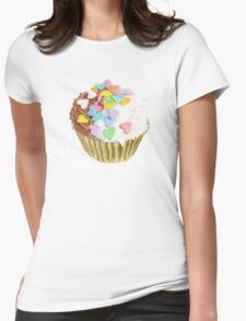 Cupcake Hearts T-shirt Womens Fitted T-Shirt