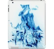 Abstract Blue Fire  iPad Case/Skin
