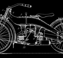 Motorcycle Patent - Black Sticker