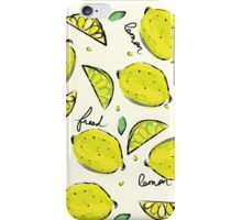 Lemons, Fresh Lemons iPhone Case/Skin