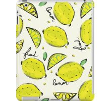 Lemons, Fresh Lemons iPad Case/Skin