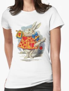 Alice in wonderland Rabbit Womens Fitted T-Shirt