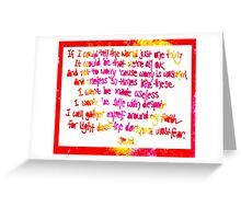 If I could tell the world... Greeting Card