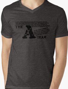 A-TEAM Mens V-Neck T-Shirt