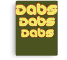 Dabs, dabs, dabs! Canvas Print