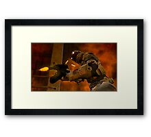 COMMAND THIS IS LEVEL 19  REPORTING HERE THEY COME  Framed Print