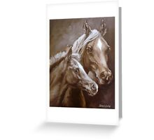 Arab Mare and Foal. Greeting Card