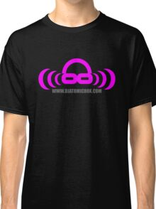 Dj atomic Purple logo with URL Classic T-Shirt