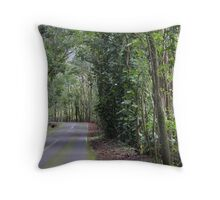 The Road to the Golf Course Throw Pillow
