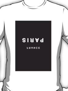 Paris, France Minimalist Black & White Tee T-Shirt