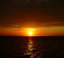 Sunset #1 Negril Jamaica by Linda Bianic