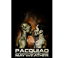 pacquiao VS mayweather Photographic Print